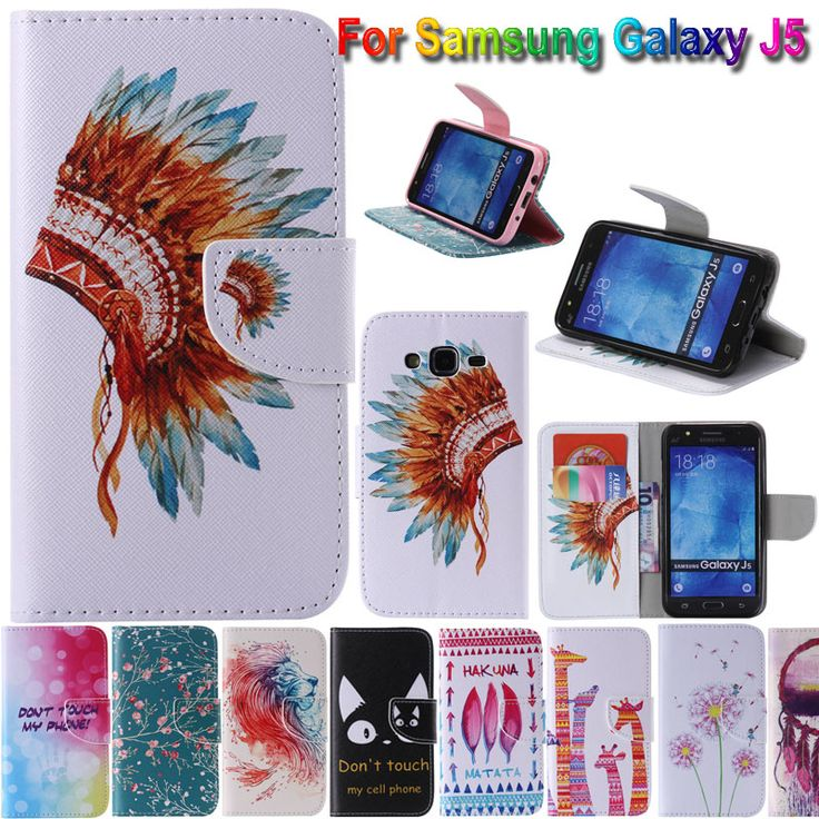 Top Quality in-side Cartoon Print Leather Cell Phone Case Cover For Samsung galaxy J5 J500 J500F Flip Covers with Card Slots
