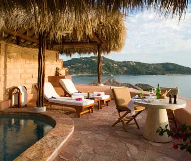 One glance at La Casa Que Canta's gorgeous infinity pool, its edge blending with the blue of the ocean and sky, and you can understand why this 25-suite hideaway perched high above Zihuatanejo Bay is a six-year veteran of the World's Best list.