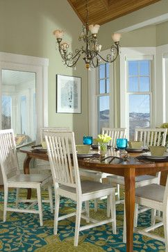 Dining room painted in Benjamin-Moore Guilford Green, 2015 color of the year - Lights Online Blog