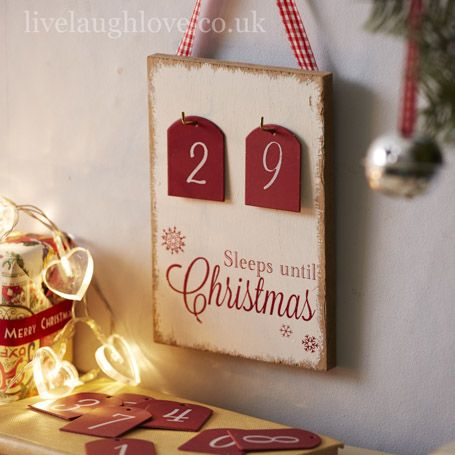 Sleeps Until Christmas Countdown Plaque