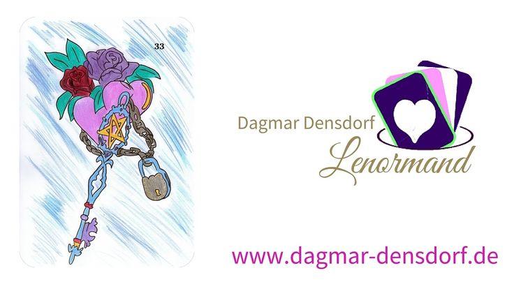 Kartenlegen lernen mit Lenormand | Kartenlegen lernen gratis |Online Kartenlegen | Lenormandkarten deuten | Lenormandkarte Nr. 33 – Der Schlüssel www.dagmar-...