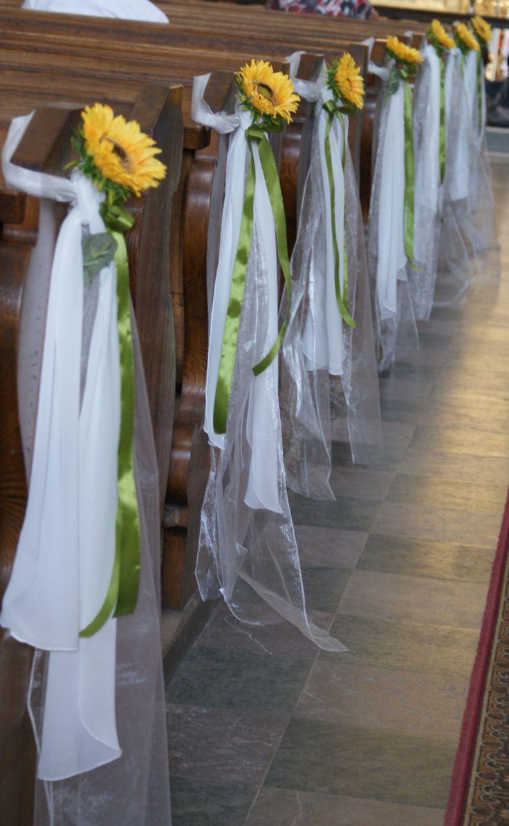 Dekoracja kiścioła Słoneczniki