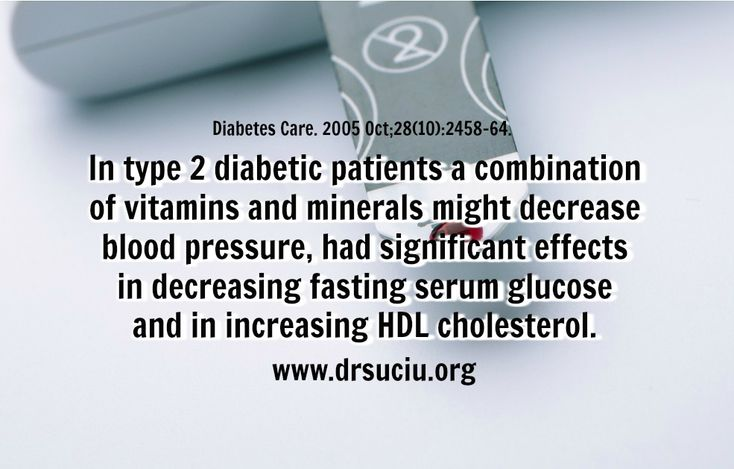 Picture Benefits of vitamins and minerals in Type 2 Diabetes - drsuciu