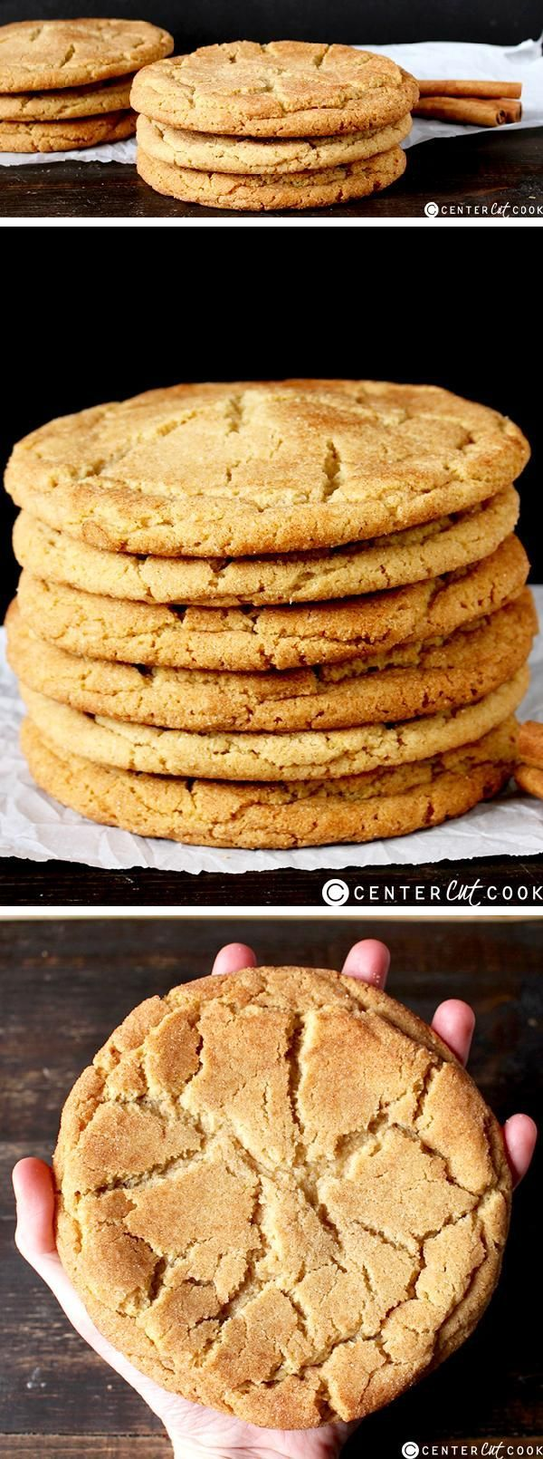 These JUMBO SNICKERDOODLE COOKIES are a giant take on the classic cookie. They are soft, buttery, thick, and so delicious!