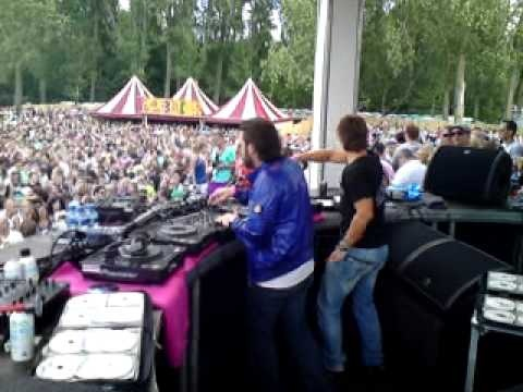 Daytime gig at Mysteryland, Netherlands, August 2009. No lasers, no pyrotechnics, no confetti but still a great amount of people!