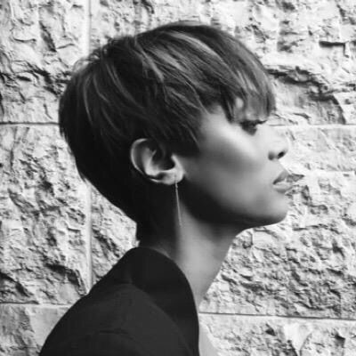 Tyra Banks short hair - pixie haircut