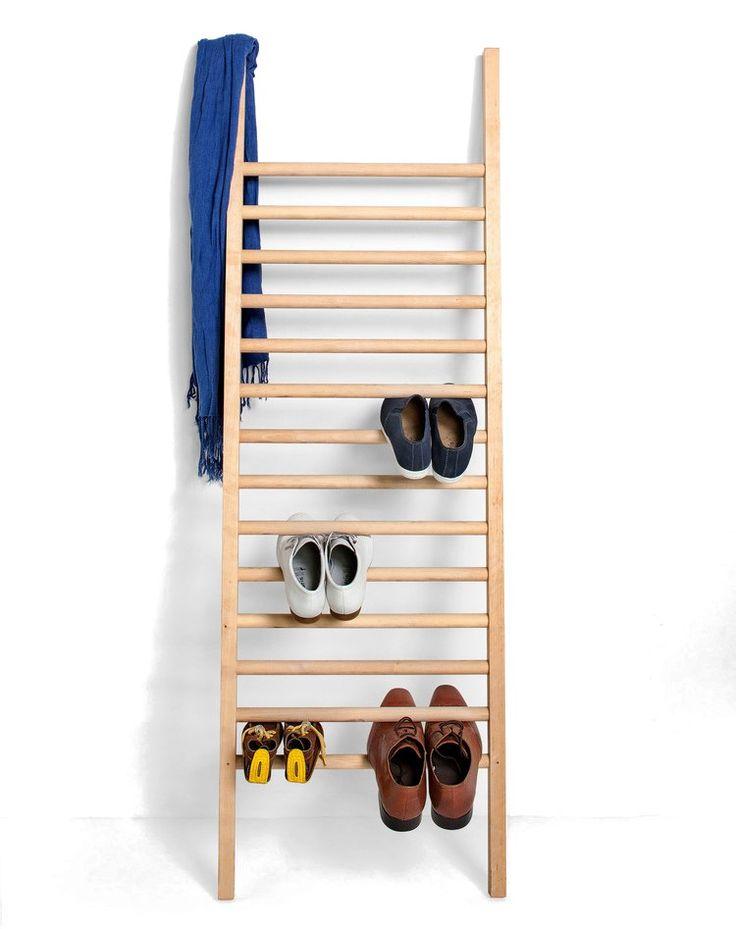Wooden shoe cabinet STEP UP by EMKO UAB design Tore Bleuzé