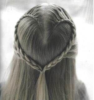 Heart Braid Hair Tutorial - Baking Beauty
