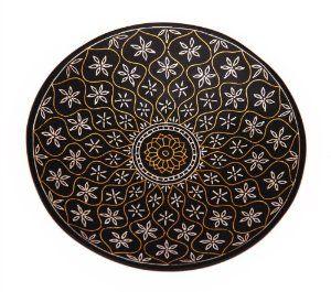 Beautiful Decorative Plate Silver Inlay Unique Home Decor Accent Bidri Birthday or Housewarming Gift Ideas
