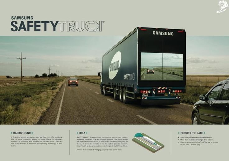 Safety Truck Samsung Leo Burnett Argentina GOLD - CANNES LIONS PROMO AND…
