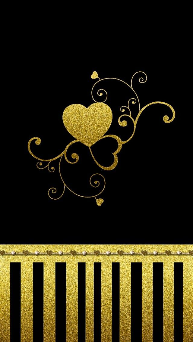 Glitter clipart gold heart - Pencil and in color glitter clipart ...