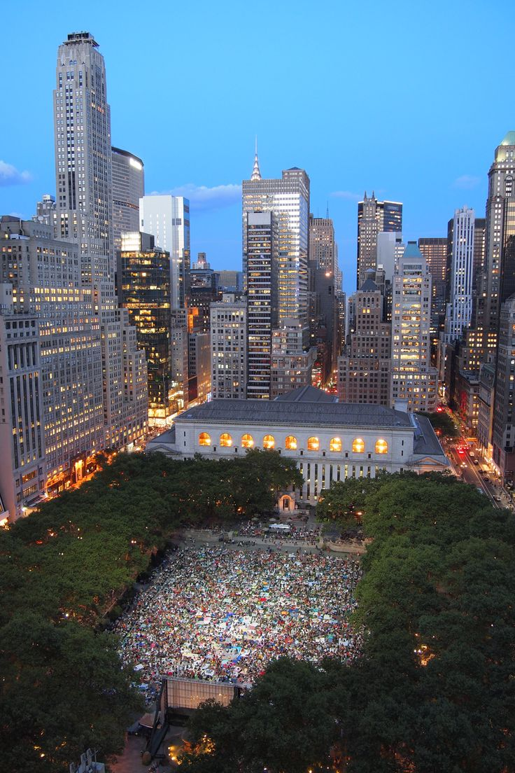 Where to see outdoor films in NYC: Bryant Park Summer Film Festival
