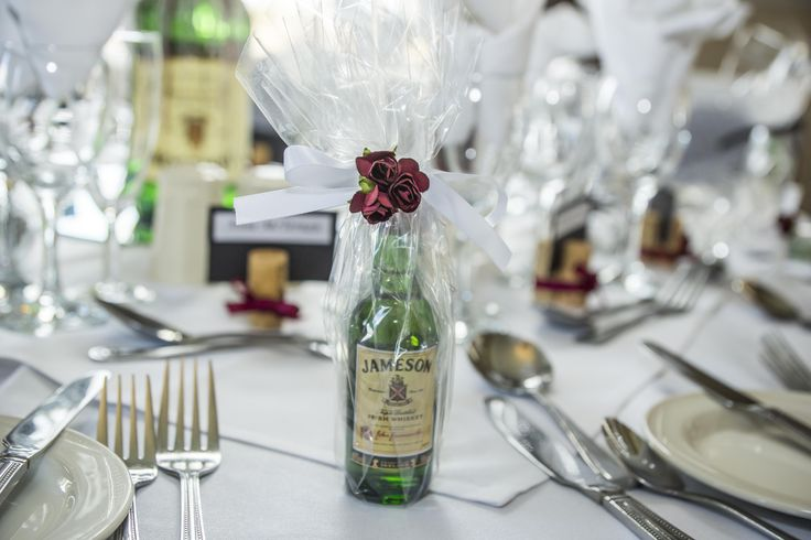 Miniature Jameson bottle, as a favour for the guests on your Wedding Day.