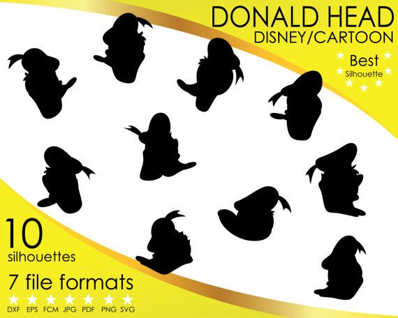 Hey, I found this really awesome Etsy listing at https://www.etsy.com/listing/514955813/10-silhouettes-donald-duck-head-disney