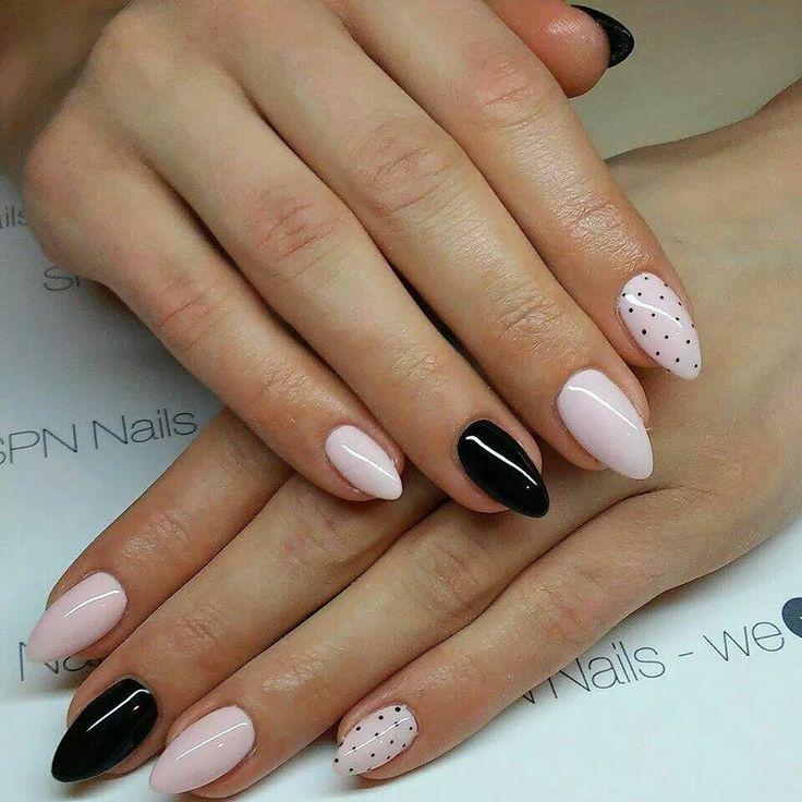 SPN UV LaQ 503 Black Tulip, 506 Rose French Nails by Alicja Koziołek