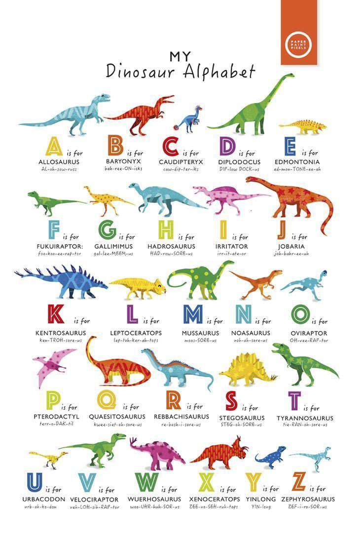 Roooaaarrrr Ein Neues Dinosaurier Alphabet Poster In Hellen Regenbogenfarben Verfugbar Alphabet Dinosa Alphabet Poster Dinosaurier Kinderspielzimmer