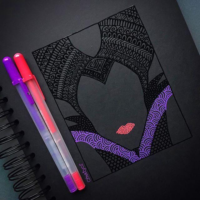 Maleficent zentangle