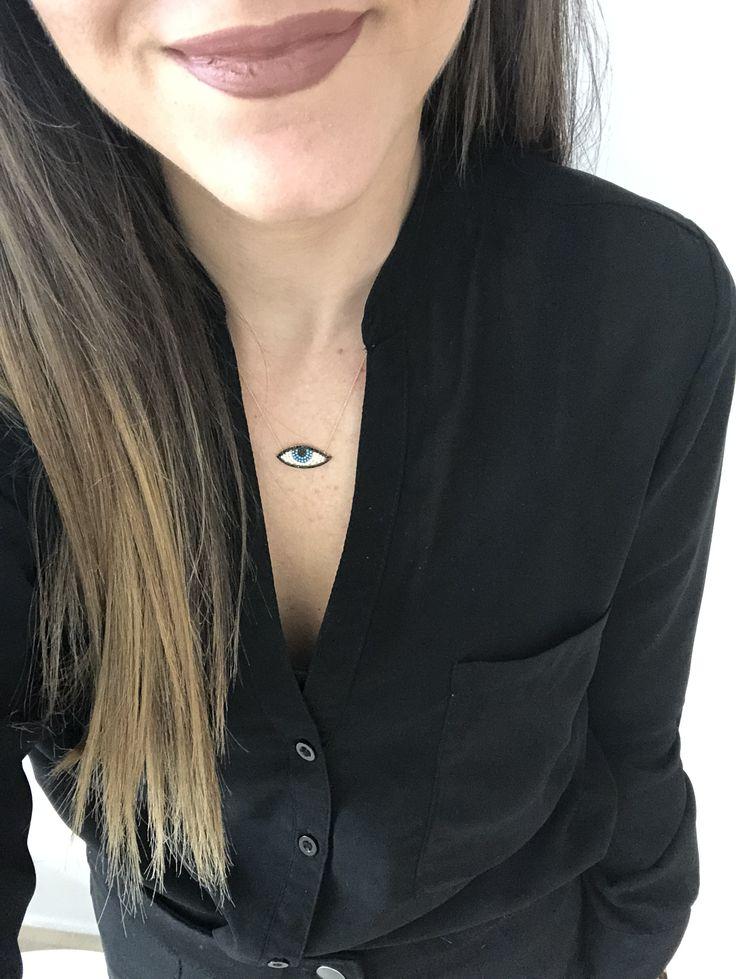 Eye necklace on www.goldentiara.gr