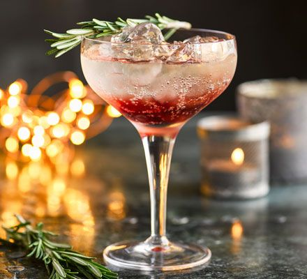 This slightly sweet, slightly sharp Prosecco royale mixed with sloe gin is the perfect festive cocktail to kick off your Christmas party