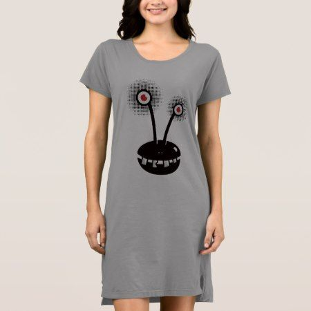 Funny Cartoon Halftone Alien Dress - click to get yours right now!
