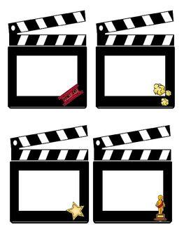 Hollywood/Movie Themed Class Job Cards