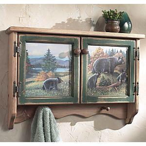 Black Bear Lodge Wall Cabinet  24 x 17 x 5.  $100