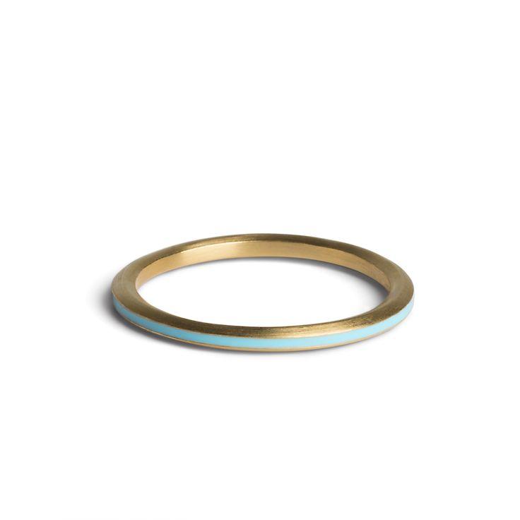 Einfacher Ring mit Emaille - Vergoldetes Silber - Ringe