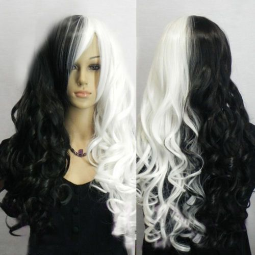 new-harajuku-style-long-curly-wavy-hair-black-white-mix-anime-wig-cosplay-party