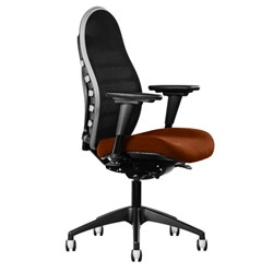 Allseating Cpod ergonomic office chair lumbar support mechanism incorporated into a mesh back