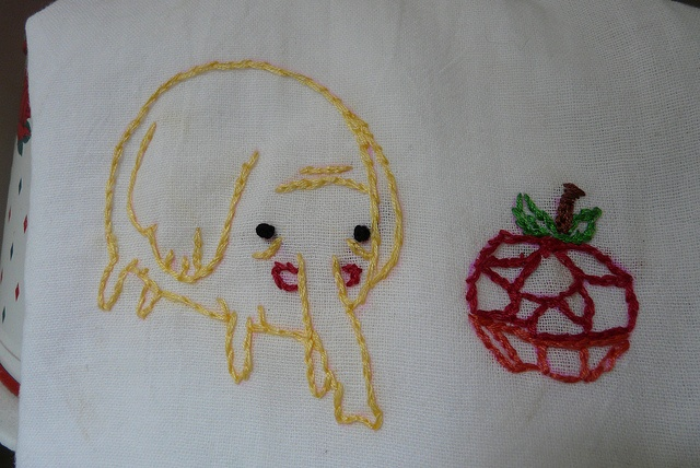 Tree Trunks Adventure Time Embroidery, via Flickr.