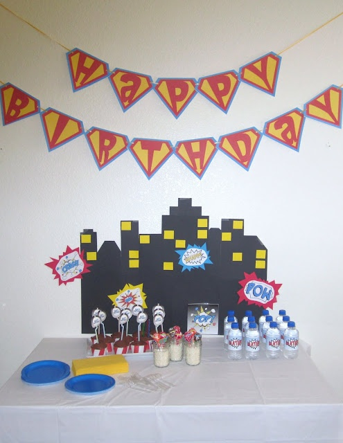 Awesome Superhero Party! Love that banner: Superhero Birthday, Awesome Superhero, Superhero Party, Superhero Parties