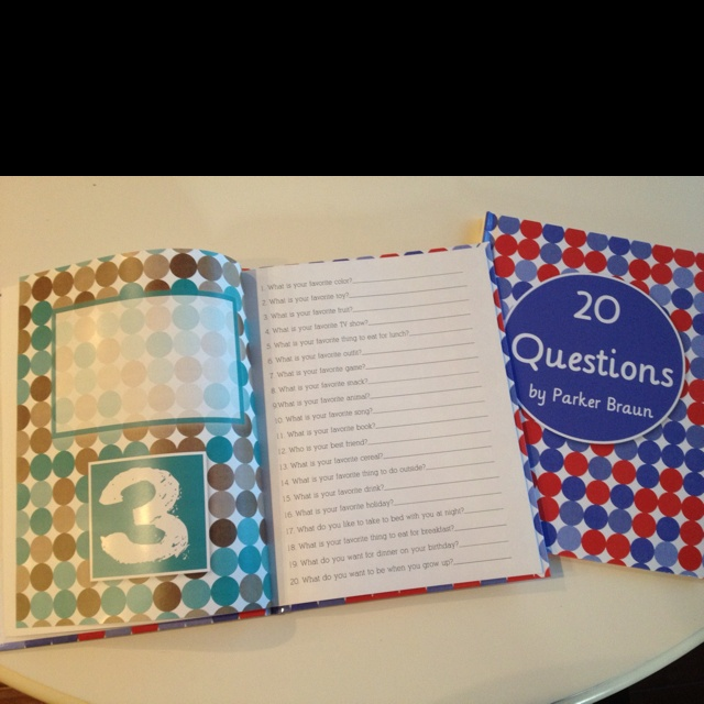 20 questions book to ask your kids and record each year on their birthday