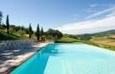 Poderi Arcangelo near San Gimignano in Tuscany ... heavenly pool and view.