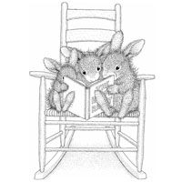 Stamp-0200 House Mouse - Happyhoppers - Reading Rabbits