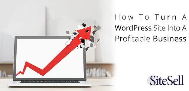 How To Turn A WordPress Site Into A Profitable Business via @sitesell