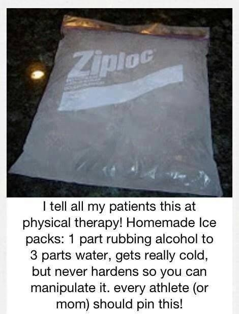 Homemade Ice Packs. Perfect for kid injuries.