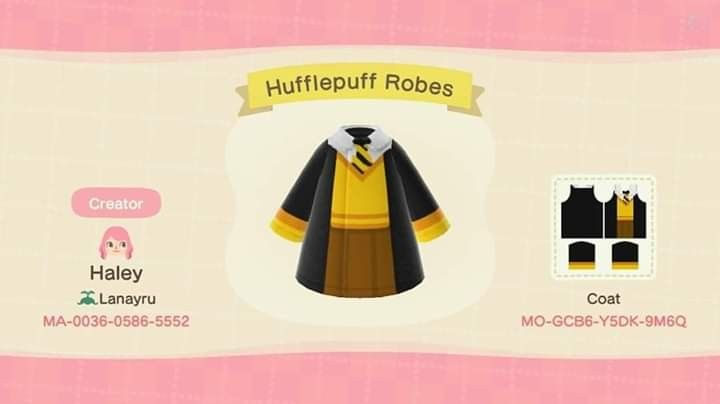 Harry Potter Hufflepuf Animal Crossing Animal Crossing Animal Crossing Guide New Animal Crossing