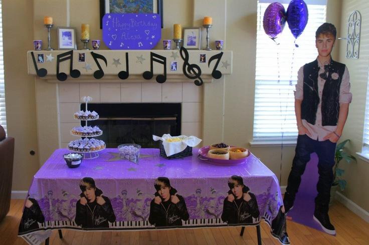 Justin Bieber birthday party ideas