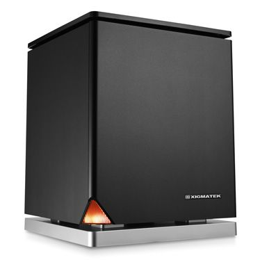 """Xigmatek Nebula mini-ITX form factor. Stylish, minimalist design with orange HDD LED on bottom corner and silver power button on top, piano-finished panel. Aluminum side panel. 10.24"""" L x 10.24"""" W x 13"""" H. Can take 7.87"""" (200mm) graphics card."""