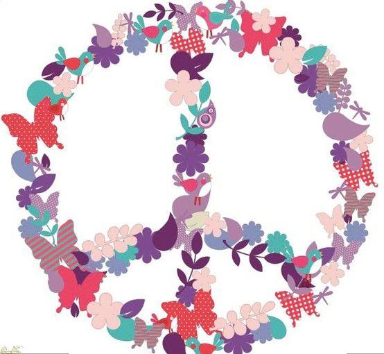 simbolo de la paz violeta