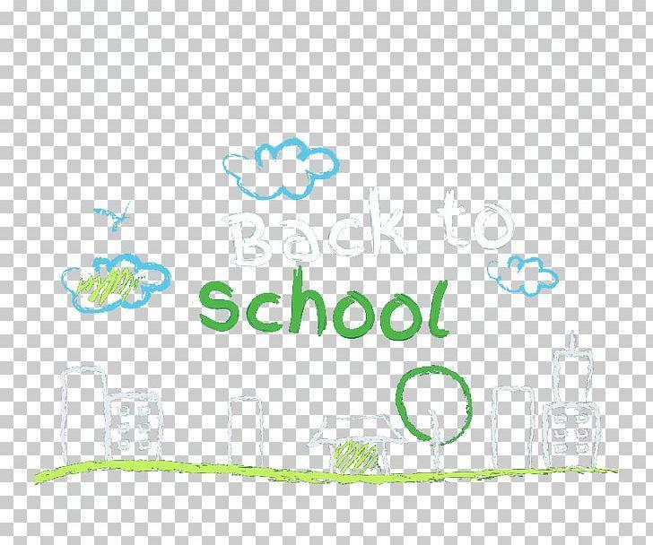 School Illustration Png Back Back To School Blue Cartoon Chalk School Illustration School Png