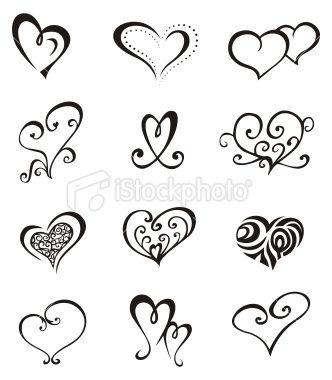dessin coeur tatouage