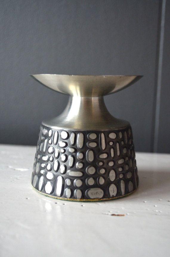 Vintage Måstad Pewter Candlestick Holder Mid by DoceVikaVintage
