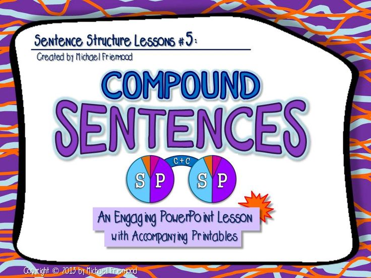 """""""Compound Sentences"""" An interactive, in-depth PowerPoint lesson with accompanying printables ($)"""