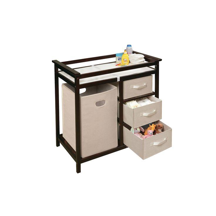 Badger Basket Modern Changing Table, Brown