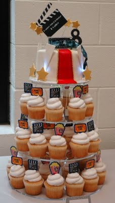 could use old Hollywood glam pics and redecorate the cupcake tier
