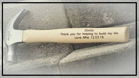 Check out this item in my Etsy shop https://www.etsy.com/uk/listing/294309531/engraved-hammer-personalised-hammer-gift