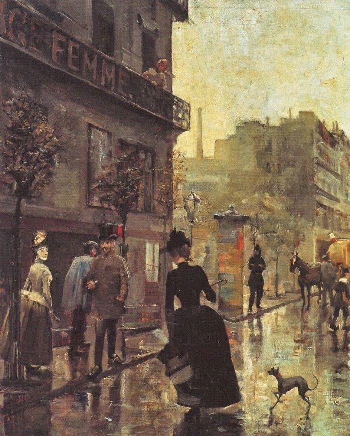 Akseli Gallen-Kallela (26 aprilie 1865 - 7 martie 1931), pictor şi grafician finlandez   - Boulevard In Paris