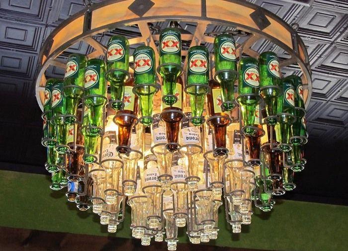 bierflasche kronleuchterflaschenleuchten kronleuchterbierflaschenglasflaschenstilfotografie - Kronleuchter Bierflaschen