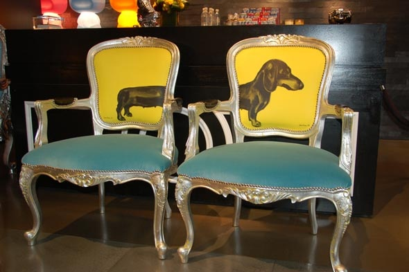 I need these for my hotdog puppy! : Dining Rooms Chairs, Barbers Chairs, Upholstered Chairs, Funky Furniture, Weiner Dogs, Furniture Ideas, Wiener Dogs, Dogs Chairs, Side Chairs
